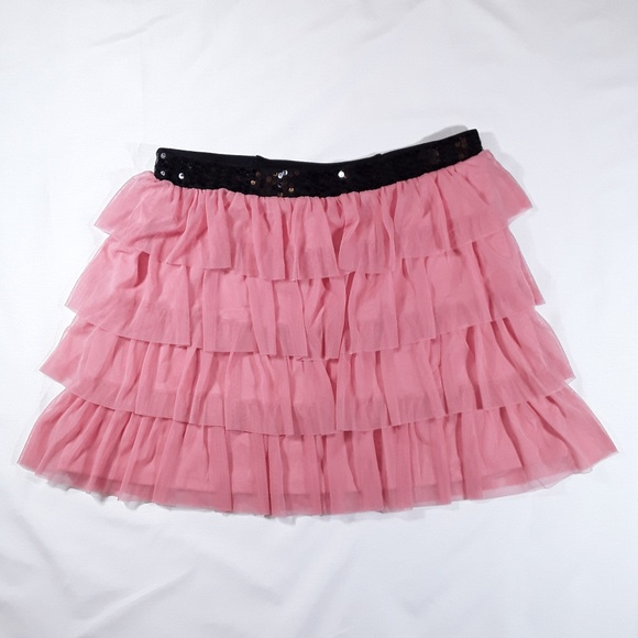 Candie's Dresses & Skirts - Candie's Pink Tulle Sequin Tiered Skirt
